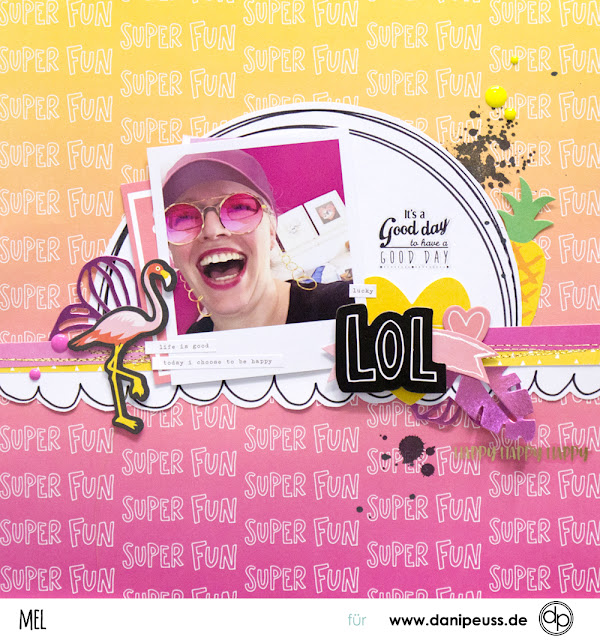 Scrapbooking Layout Sommer