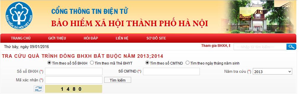 Tra cứu bảo hiểm xã hội thành phố Hà Nội | Tra cứu BHXH thành phố Hà Nội