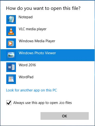 How to bring back Classic Photo Viewer in Windows 10