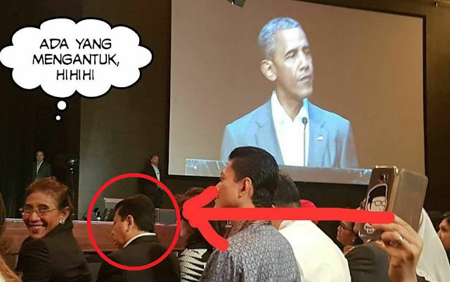 Wakil Rakyat Kok Tidur Di Depan Pidato Obama! Malu Woi! LOL!
