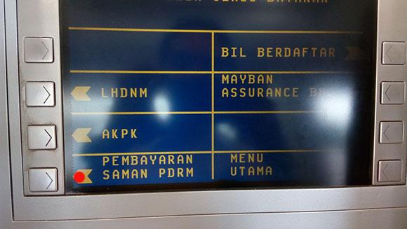 Cara bayar saman di ATM MAchine