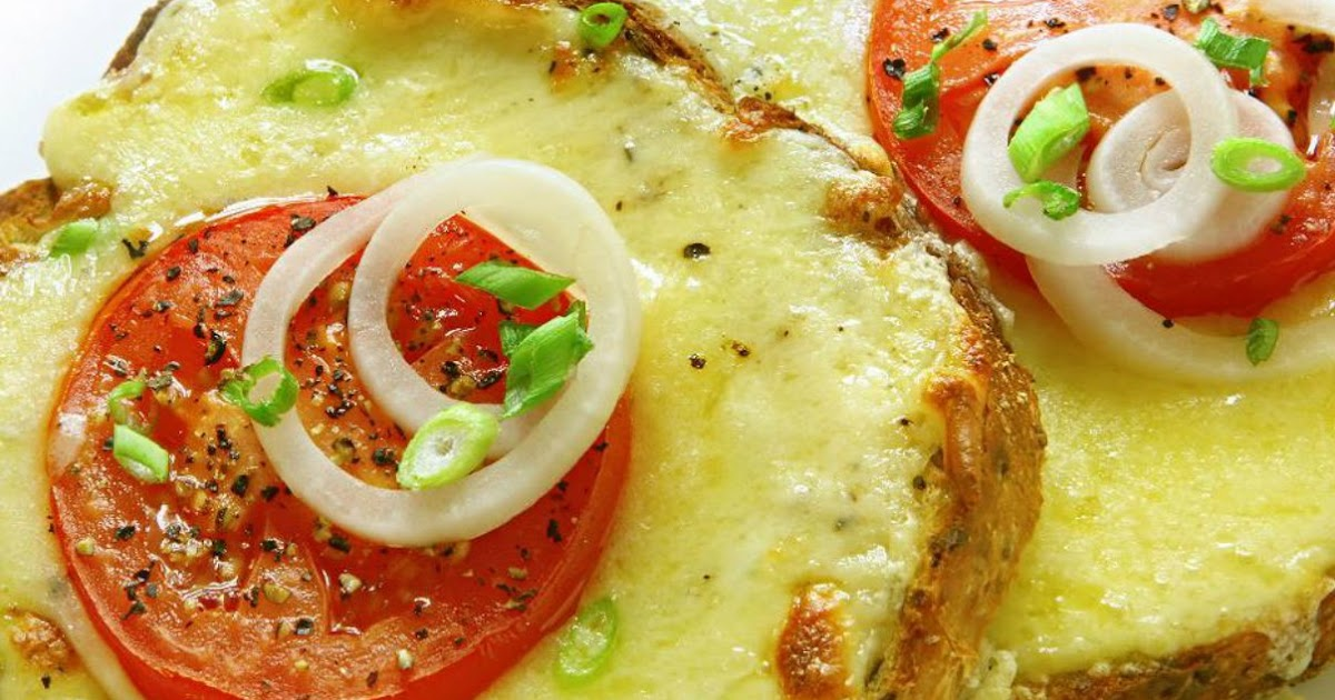 شرائح التوست بالجبن والطماطم