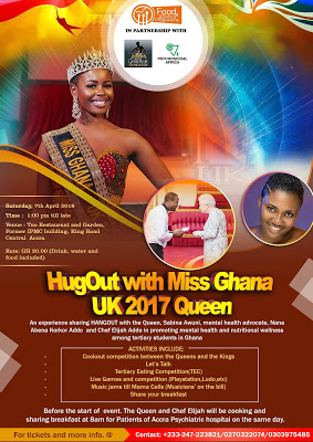 """Miss Ghana UK 2017 Queen To """"Hug Out """" With Tertiary Students In Accra"""