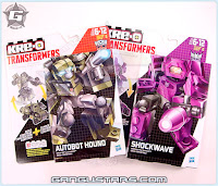 Transformers クレオ トランスフォーマー Hound Shockwave Masterpiece Kre-O LEGO