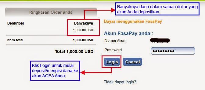 Cara deposit dengan fasapay