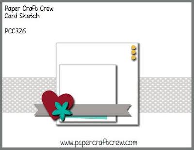 Paper Craft Crew Card Sketch Challenge #PCC326 from Mitosu Crafts UK