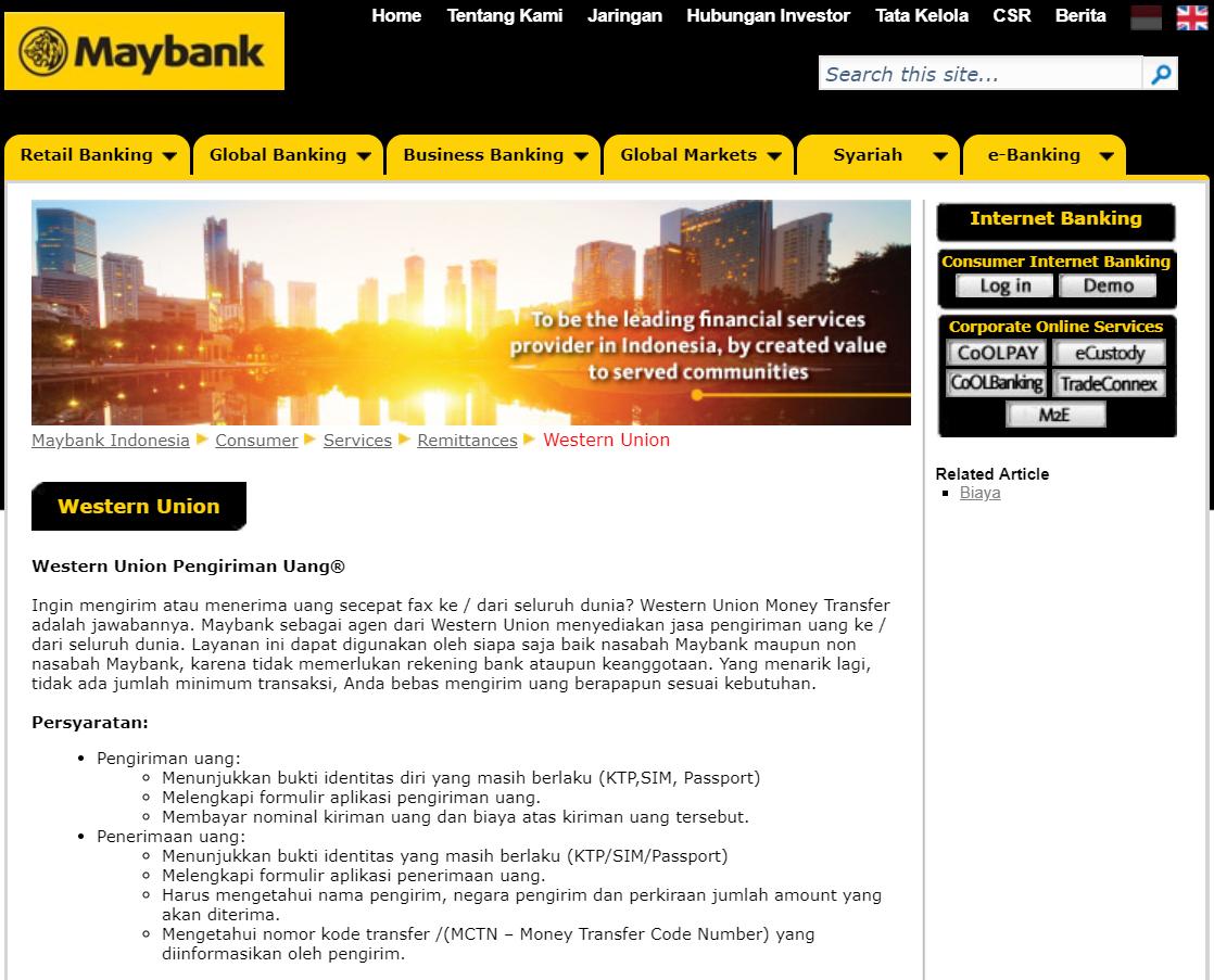 Bank Yang Bekerjasama Dengan Western Union 2020 Warga Negara Indonesia