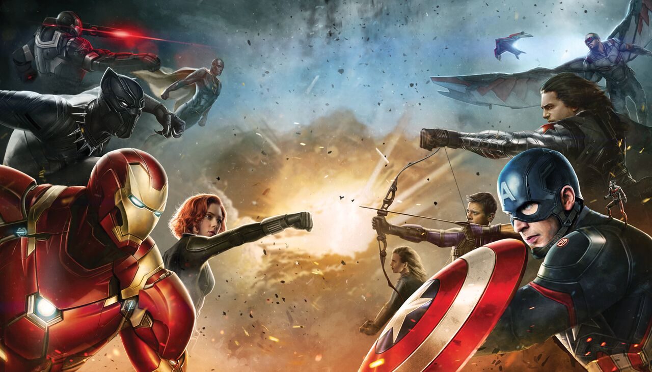 Captain America Civil War Teams HD Wallpaper