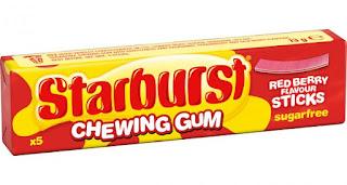 Starburst Red Berry Chewing Gum Sticks