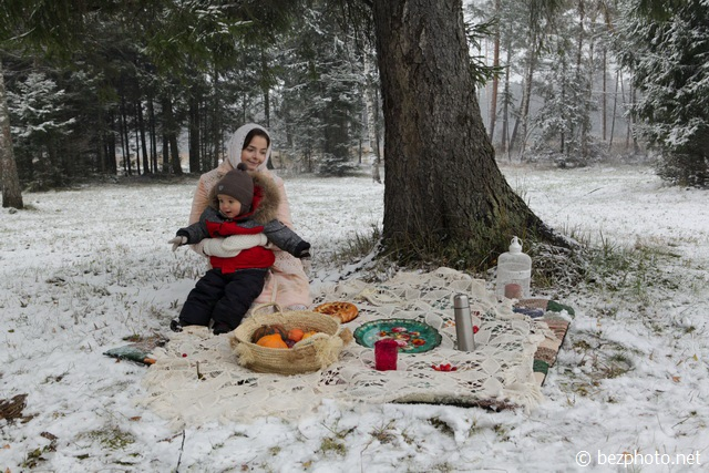 фотосессия пикник зимой фото