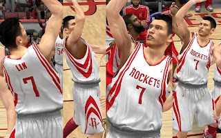 NBA 2K13 Houston Rockets Home Jersey Mod
