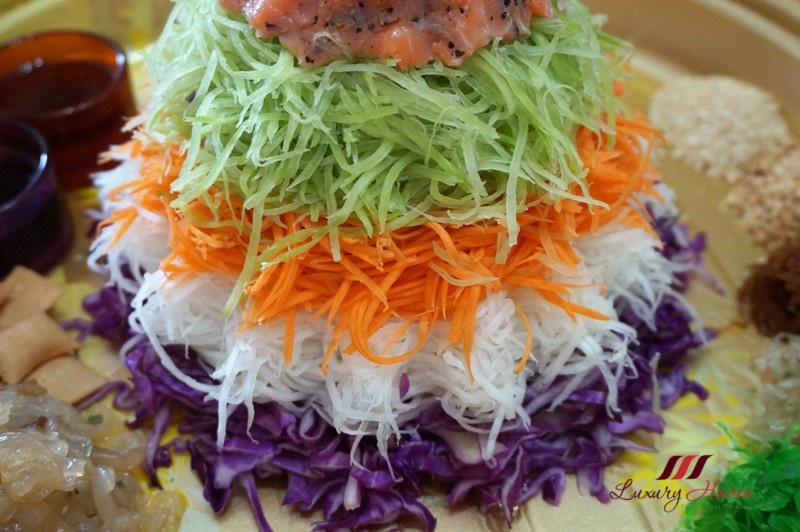 colourful chinese new year rainbow salad recipe