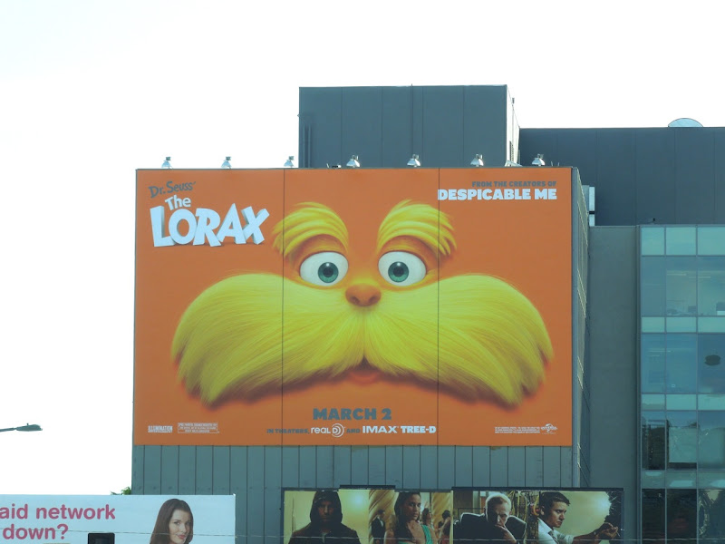 The Lorax giant movie billboard