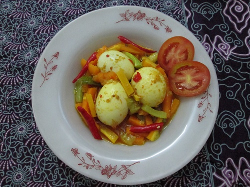 Resep Telur Kuah Acar Kuning