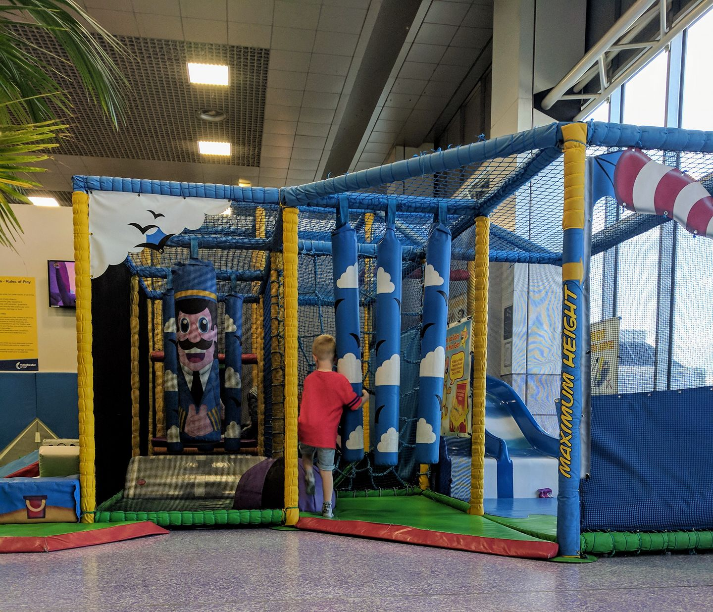 7 Ways to save money at the airport when travelling with kids  - Manchester airport soft play