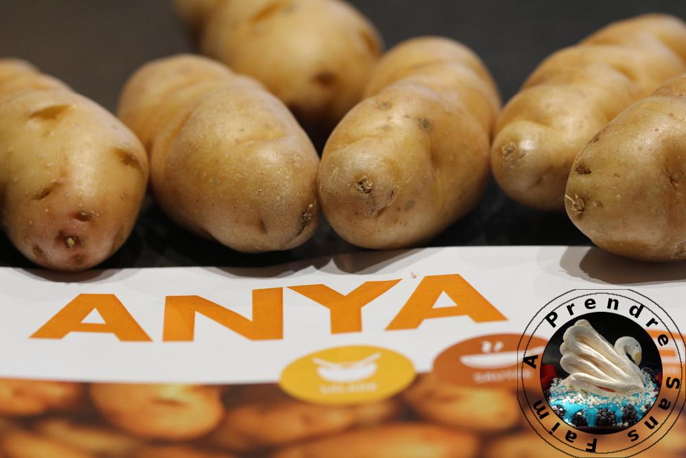 Pommes de terre anya à l'huile de vanille