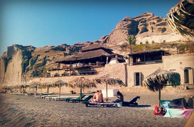 Theros beach bar Santorini