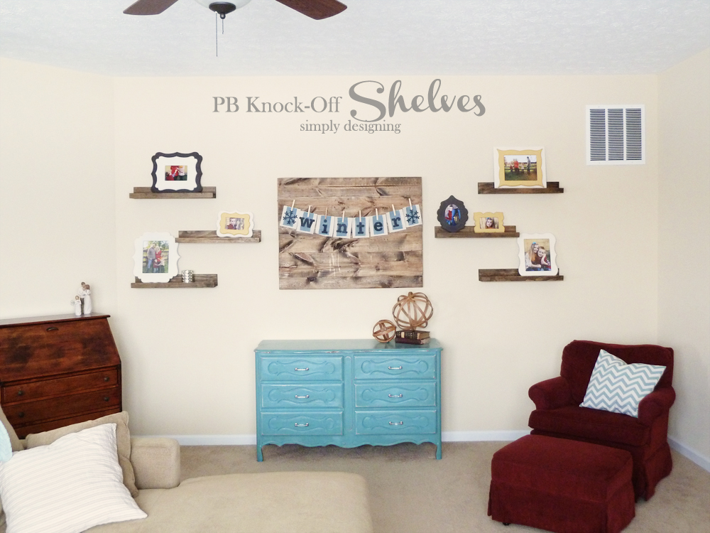 PB Knock-Off Shelves | how to make knock-off shelves with a Kreg Jig | #diy #shelves #knockoff
