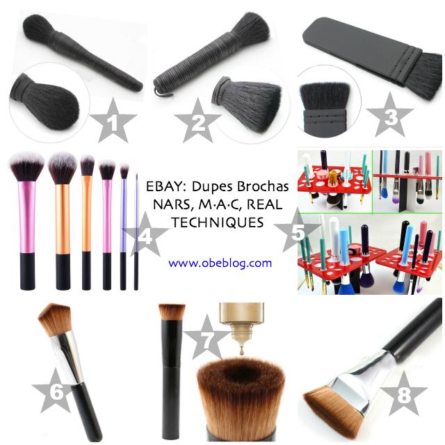Descubrimientos_ebay_Dupes_Brochas_NARS_M·A·C_REAL TECHNIQUES_ObeBlog_01