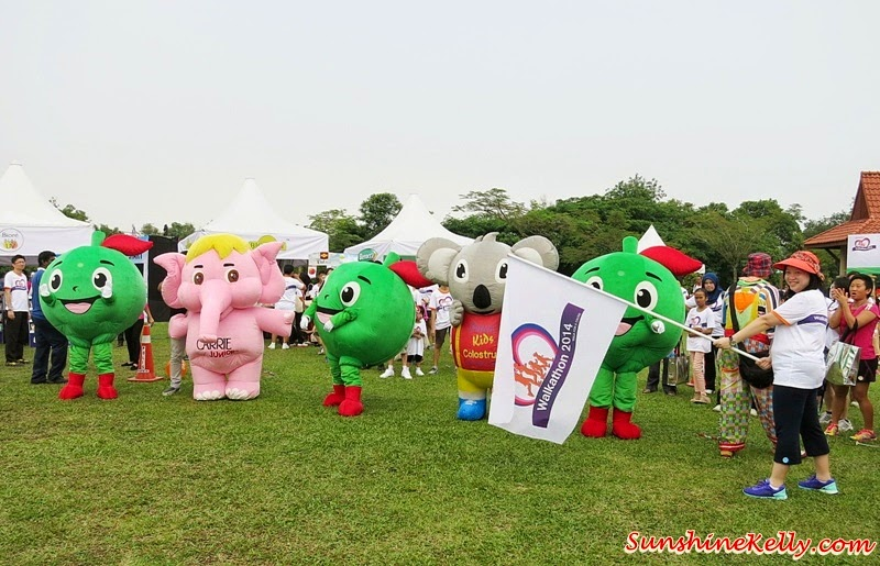 Walkathon 2014, Wetlands Park, Putrajaya, Guardian Walkathon 2014, Fitness, Healthy Lifestyle, We Walk for a Cause, corporate mascot dash