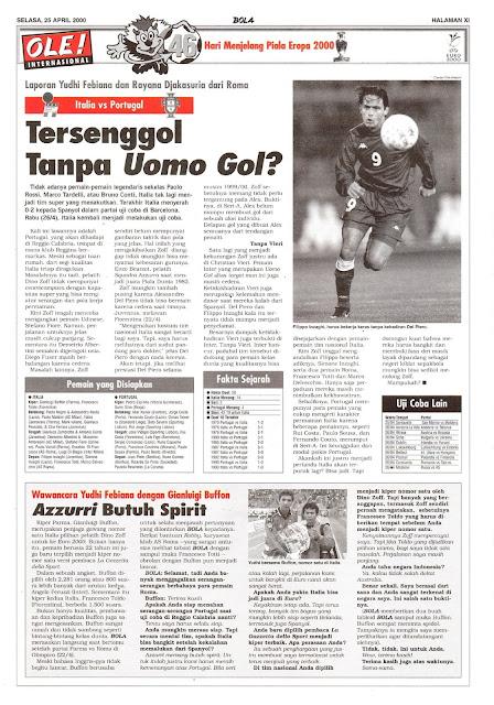 ITALIA VS PORTUGAL TERSENGGOL TANPA UOMO GOL