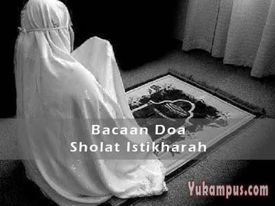 bacaan doa sholat istikharah