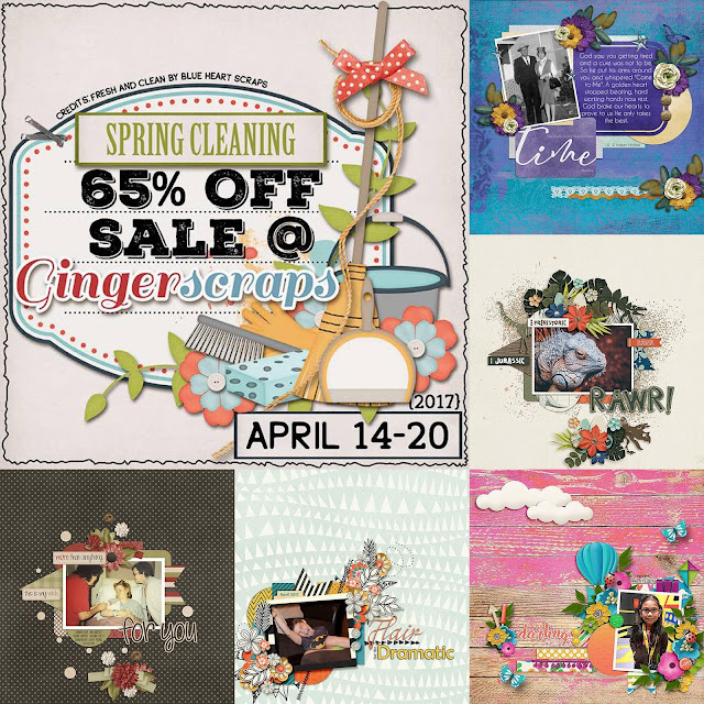 Gingerscraps spring cleaning sale