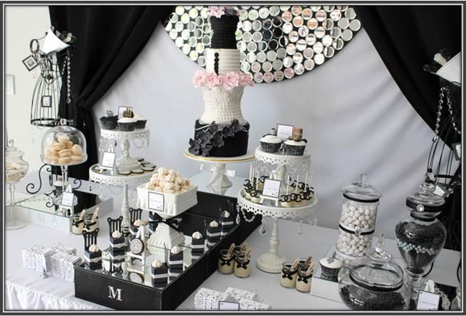 So Lovely Sweet Tables Sweet Table Defile Noir Et Blanc