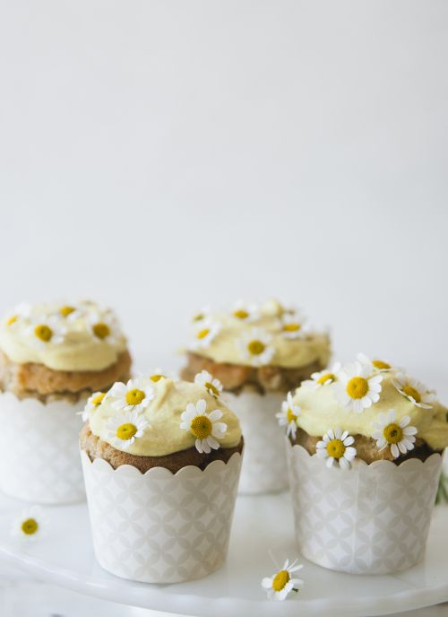 Chamomile cupcakes by Sweet Laurel