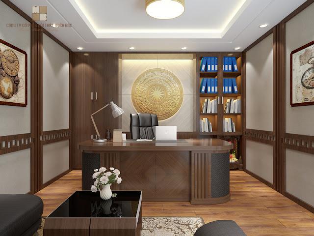 Thiết kế nội thất phòng giám đốc thì việc lựa chọn bàn ghế làm việc được coi là khâu quan trọng, quyết định đến chất lượng của không gian