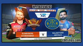 IPL 2019 8th Match Prediction Tips by Experts SRH vs RR