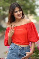 Rhea Chakraborty in Red Crop Top and Denim Shorts Spicy Pics ~  Exclusive 225.JPG
