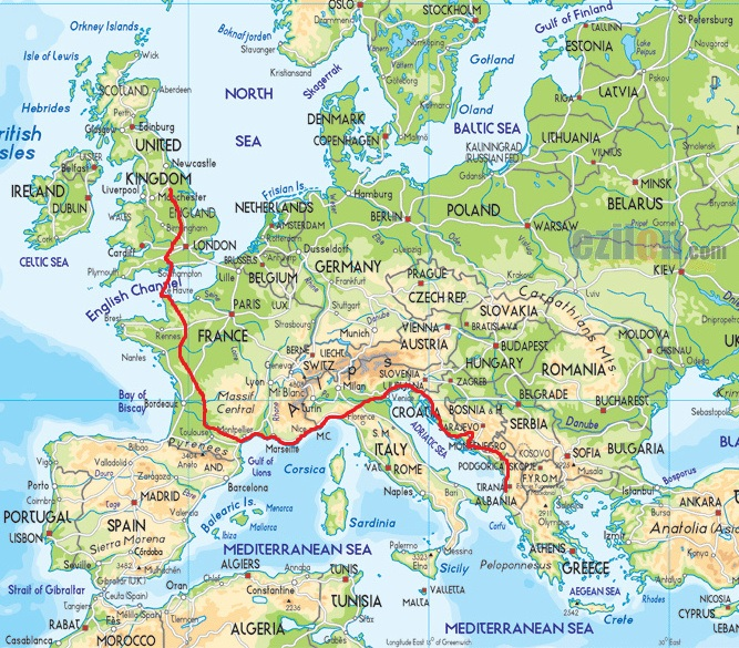 The routes of earth from slovenia to bosnia via the coast of the adriatic sea gumiabroncs Images
