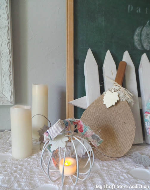 whimsical pumpkin patch mantel