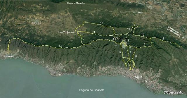 Mapa La Chupinaya y alrededores