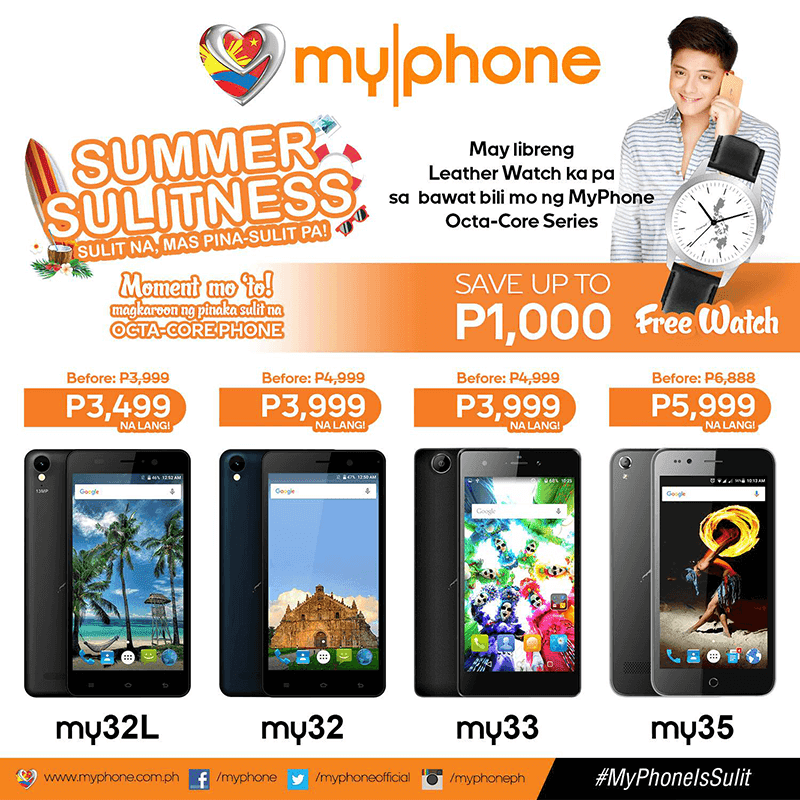 MyPhone Cuts 1000 Pesos off the prices of My32L, My32, My33 and My35!
