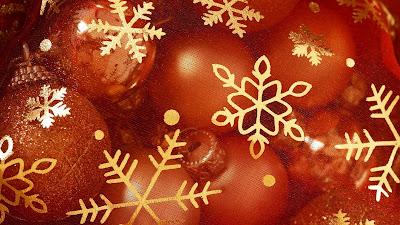 Rood met gouden Kerst wallpaper