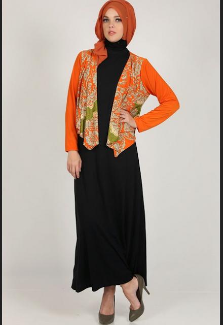 Model baju batik kantor lengan panjang untuk Hijabers