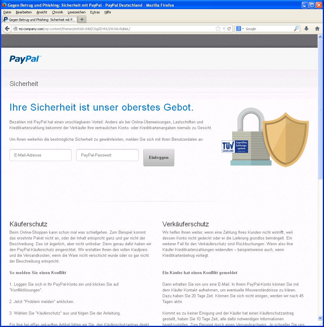 Paypal Status Eingefroren