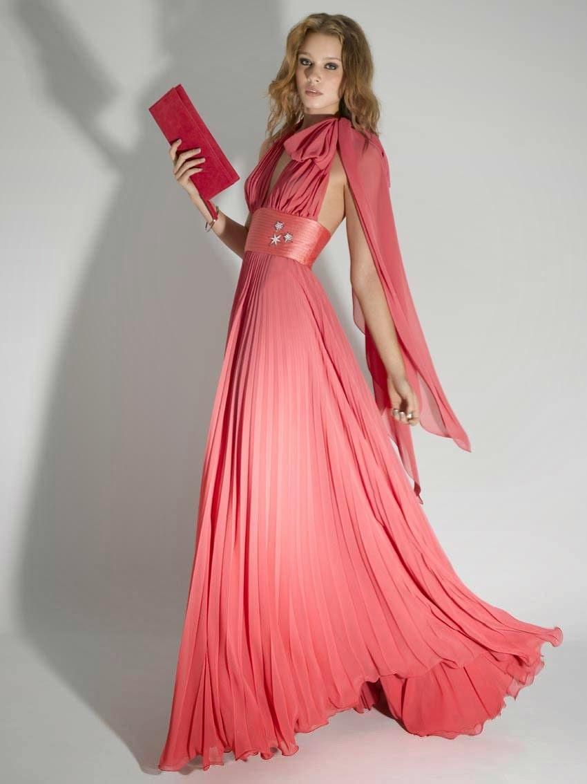 El nuevo color de la moda Vestidos color rosado  101
