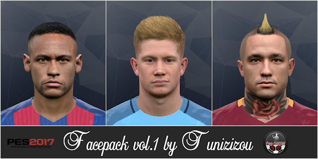 PES 2017 Facepack vol.1 by Tunizizou