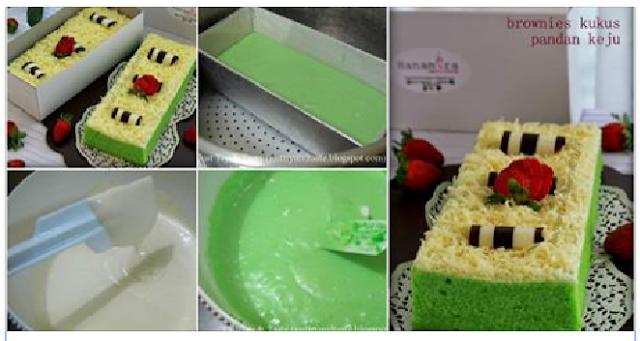 Resep Membuat Kue Brownies Keju Pandan Kukus Ny Liem Memang Anti Gatot dan Endasss Banget !!
