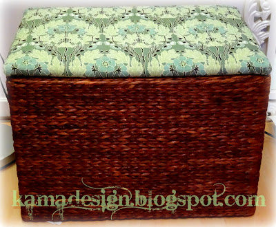 Upcycled ottoman with storage