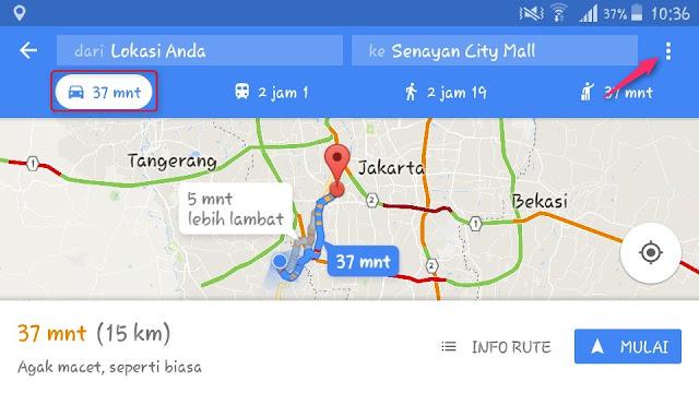 Cara Menggunakan Google Maps untuk Sepeda Motor