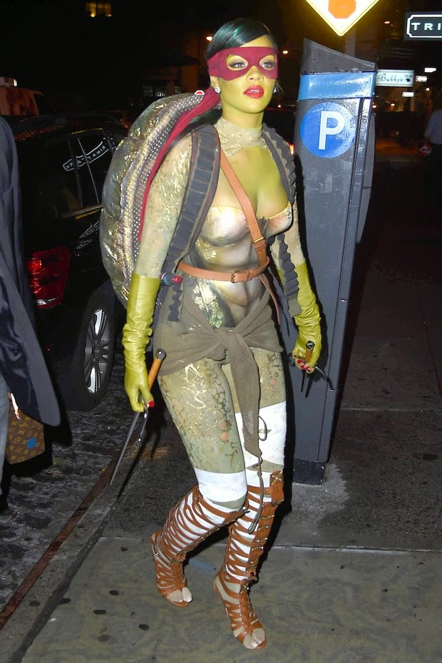 Rihanna goes from the Ninja Turtle Halloween party