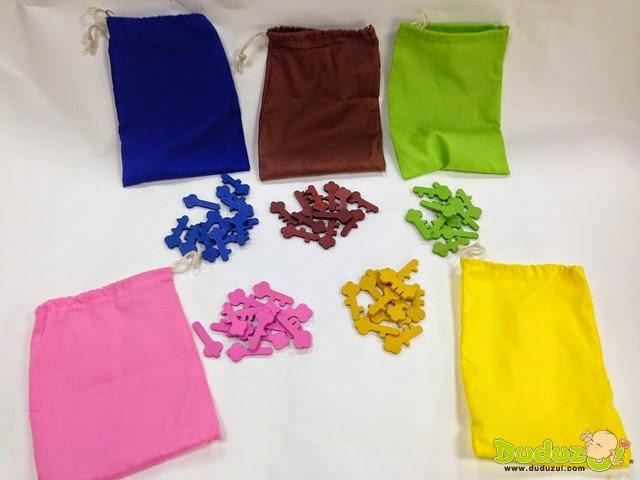 各種形狀顏色鑰匙與魔法袋