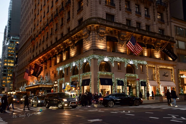 St. Regis Hotel: One of 10 Must- See Holiday Sights in Midtown, New York City | Ms. Toody Goo Shoes