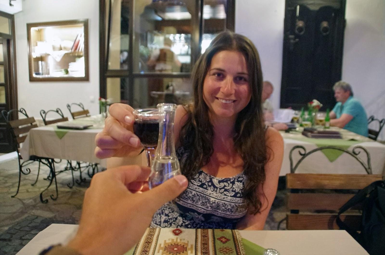 Drinking Raki in Mostar
