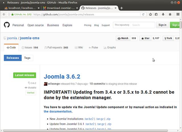 Joomla на github.com .