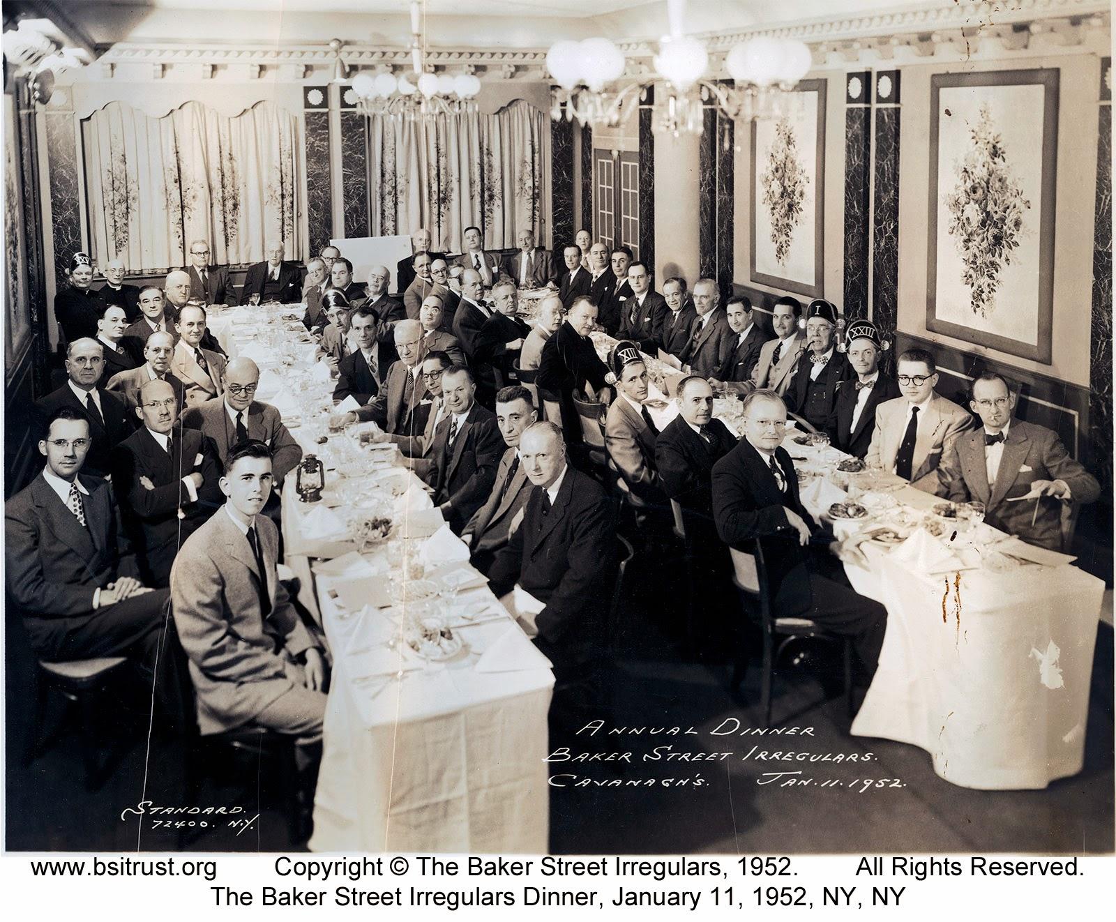The 1952 BSI Dinner group photo